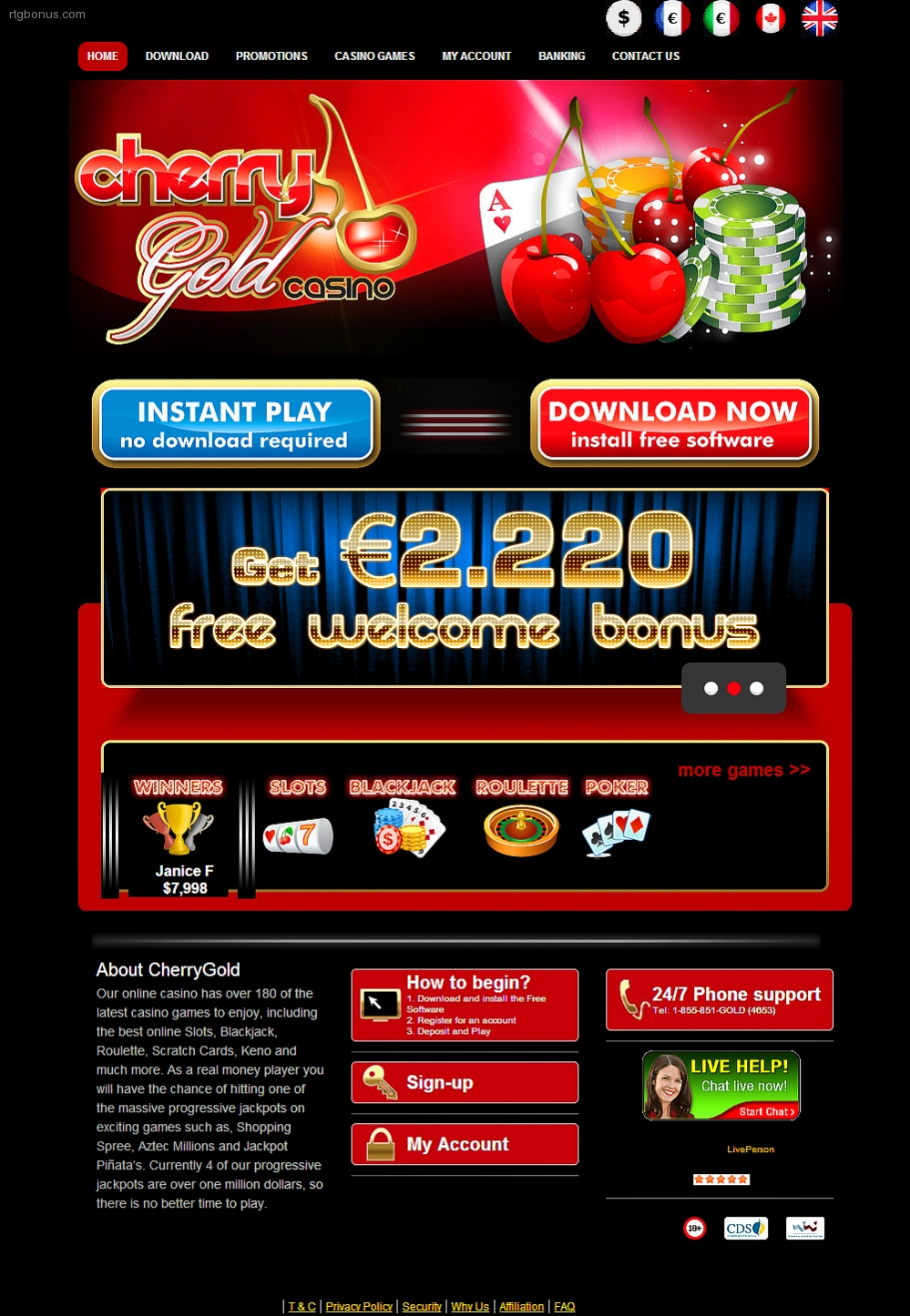 Cherry Gold Casino Rtg Bonuses No Deposit Casino Bonus Codes