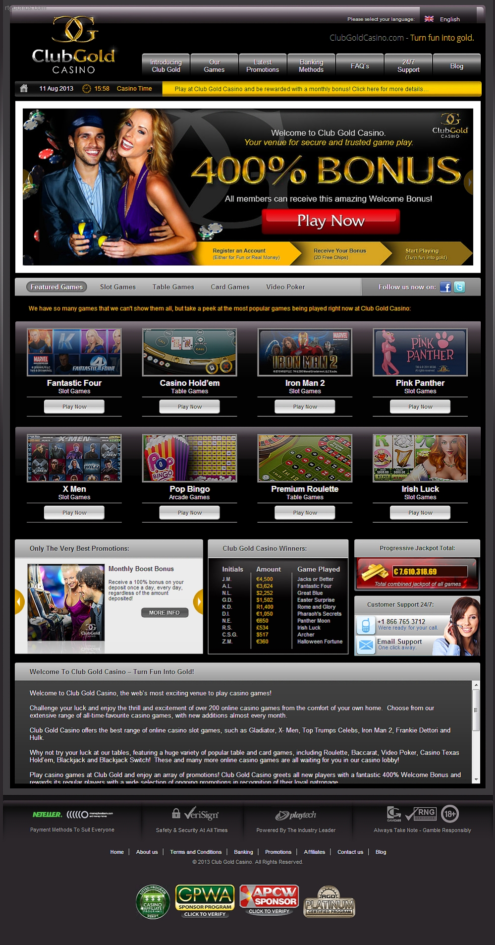 club gold casino 30 free