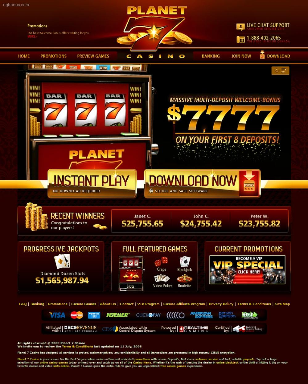 Planet 7 Casino Rtg Bonuses No Deposit Casino Bonus Codes
